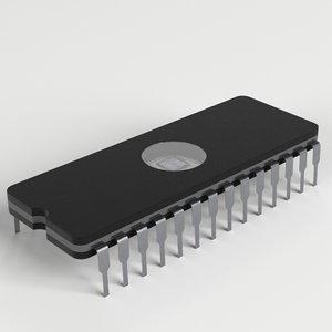 eprom chip 3D