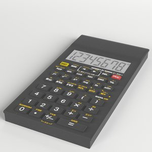 3D electronic calculator 3