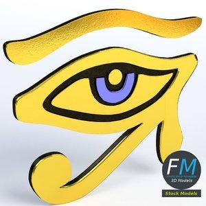 3D eye horus ra model
