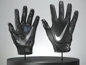 3D football glove modeled model