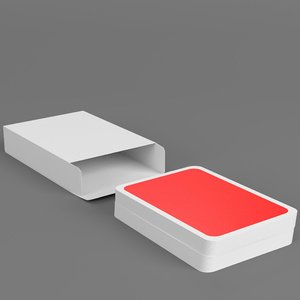 fake playing cards stack 3D model