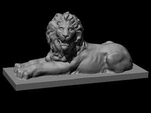 3D lion sculpture original model