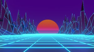 1980 outrun animation 3D