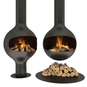 3D fireplace bathyscafocus