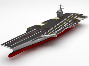 aircraft carrier f 3D model