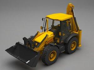 3D model excavator c