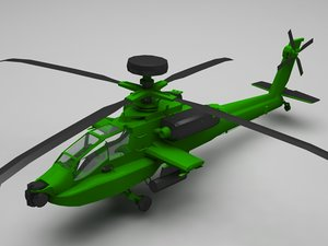 helicopter military copter 3D model