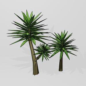 polygonal yucca 3D model