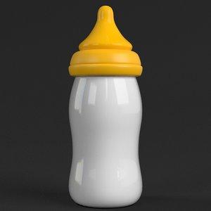3D feeding bottle model