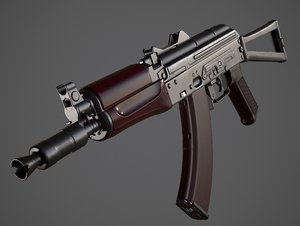 3D aks gun model