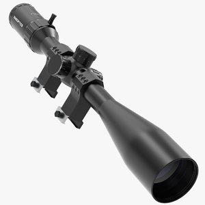 3D model rifle optic sight
