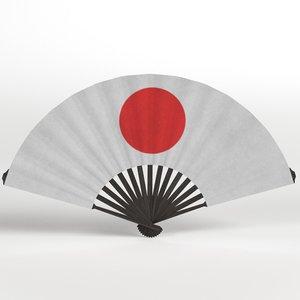 3D folding fan model