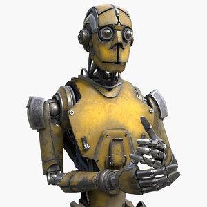 robot worker 3D model