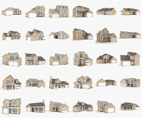 Hi-poly cottages mega pack