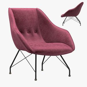 3D model concha armchair