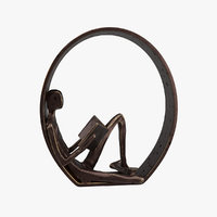 Danya B Encircled Reader Iron Sculpture