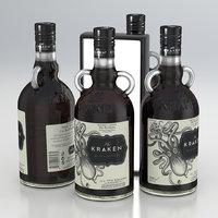 Alcohol Bottle The Kraken Black Spiced Rum 700ml 2020