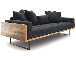sofa reclaimed wood model