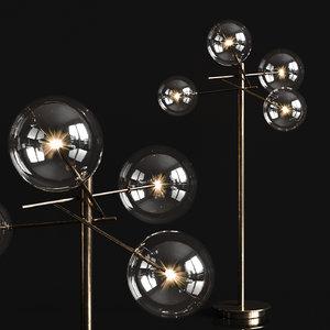 3D model bolle floor lamp