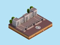 3D cartoon buckingham palace