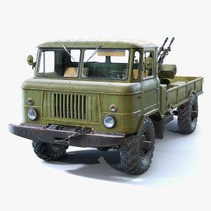 guntruck gaz-66 3D model