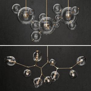 glass bubble lamps bolle 3D model
