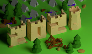 isometric 2021 castle 3D model
