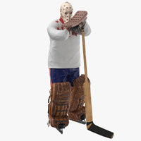 ice hockey goalie standing 3D model
