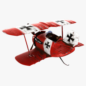3D model cartoon airplane