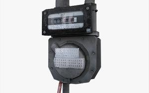 gas meter 3D
