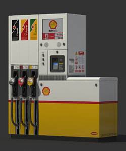 shell fuel tokheim 510 3D model