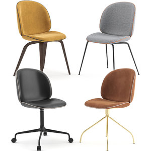 chairs beetle gubi seat 3D model