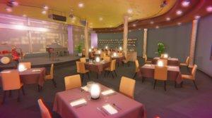 3D model jazz club - interior