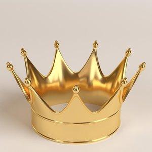gold crown 1 3D model