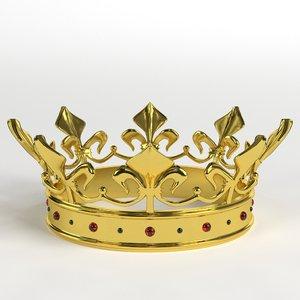 3D gold crown gems 1