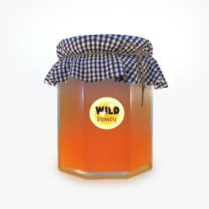 honey jar 3D model