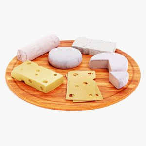 3D cheese set board