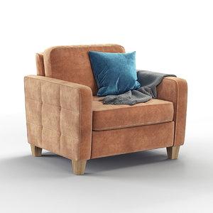 3D earl armchair model