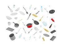 3D model pack kitchen fork knife