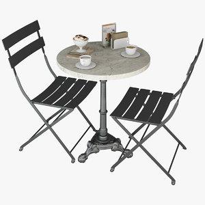 tableware cafe restaurant 3D model