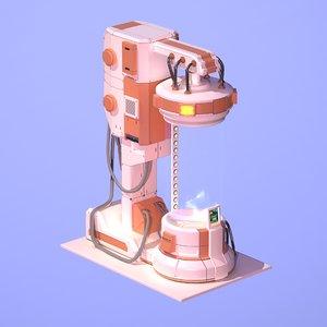 sci fi chamber cryo model
