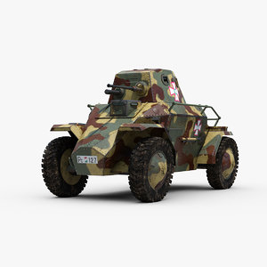 3D model ww2 csaba 39m armored car