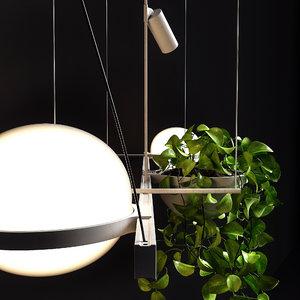 3D model sconce palma 3704