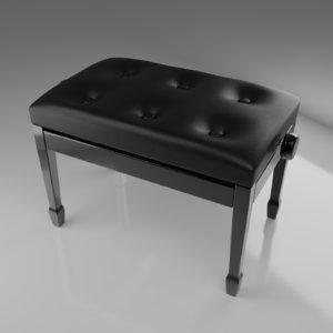 3D piano stool model