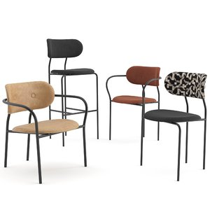 chairs coco gubi seat 3D model