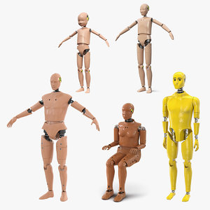 3D crash test dummies 5 model