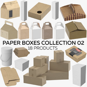 paper boxes 02 - 3D model