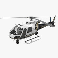 3D helicopter as-350 san diego