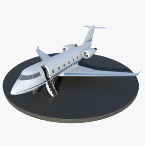 3D model generic private jet aircraft