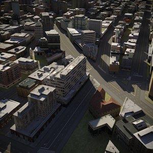 3D city cityscape model